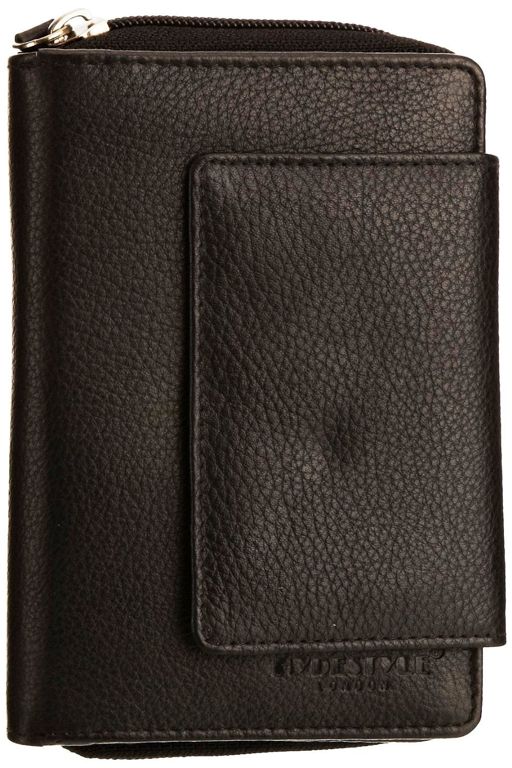 Pratico - women leather flap wallet #LW02 Black