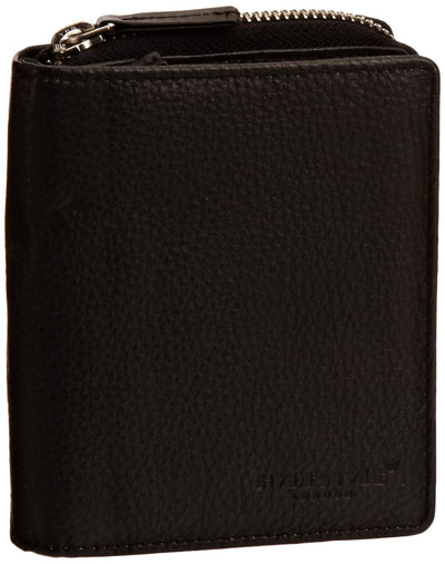 Pratico - women leather trifold wallet #LW01 Black