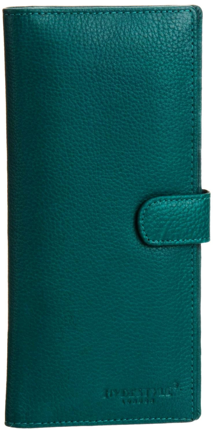 Pratico - women leather 12 card tab  wallet #LW04 Green