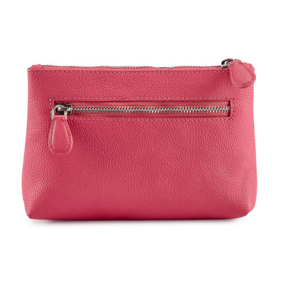 Pebbled Leather Rosa Clutch #MB2006