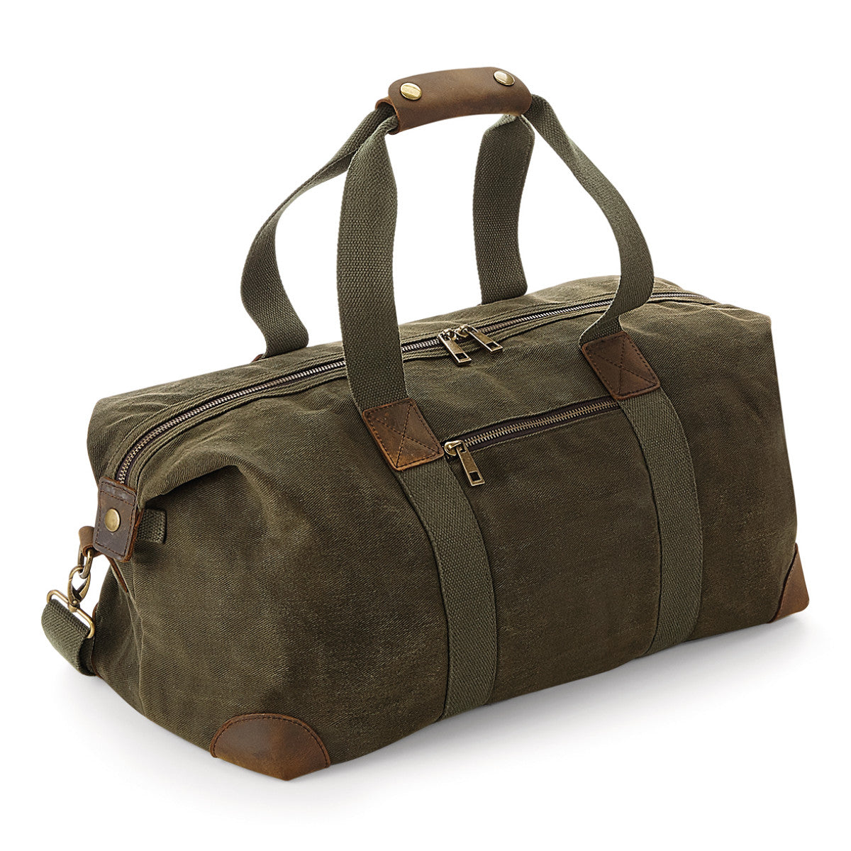 GP650 Personalised Khaki Waxed Canvas Duffel Weekend Travel Holdall