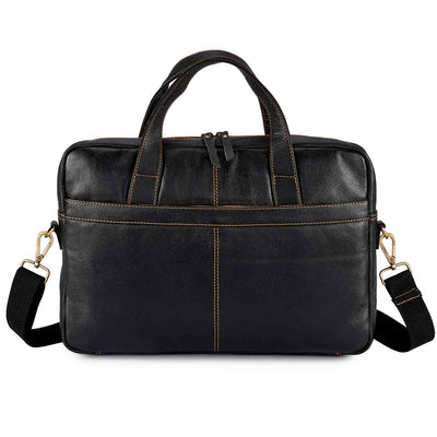 Pratico Pebbled Leather Laptop Messenger Man Bag #UM205