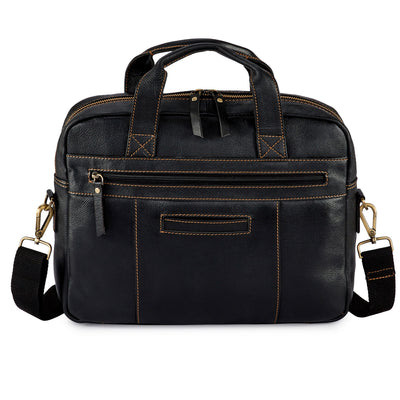 Pratico Pebbled Leather Laptop Bag #UM204