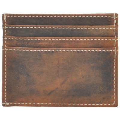 HYDESTYLE distressed leather  Card Case /Shirt Wallet #GW707
