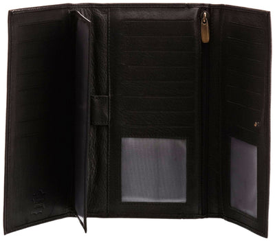 Pratico - women leather 27 card organizer #LW03 Black