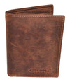 Venator distressed leather 10 card vertical  wallet #GW60