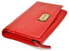 Pratico - women full Flap Leather Wallet #LW07 Red