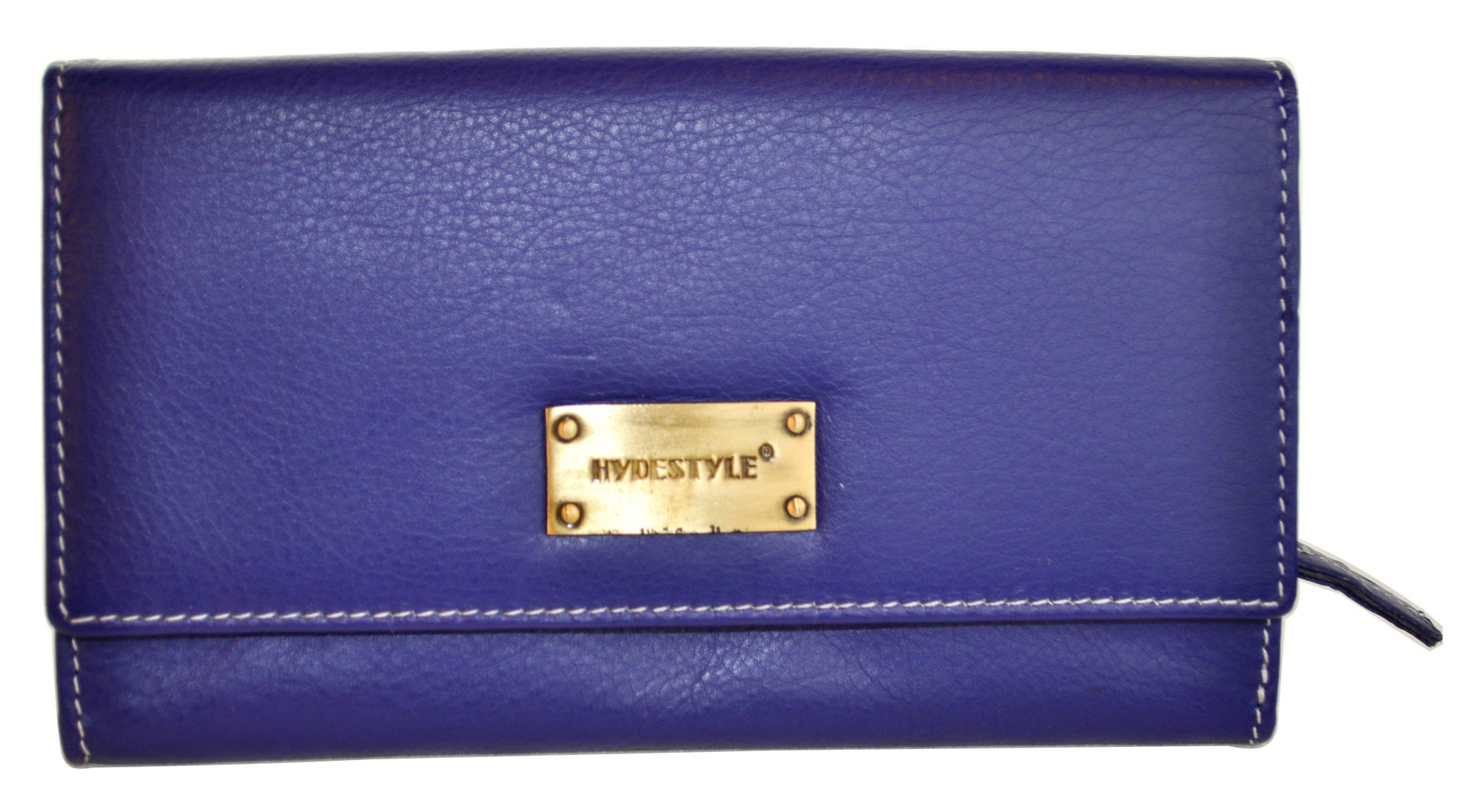 Pratico - women full Flap Leather Wallet #LW07 Blue