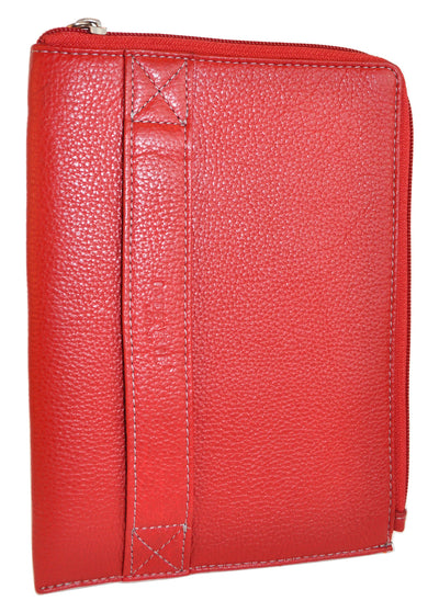 Pratico - zipped  leather iPad mini case #GC02 Red