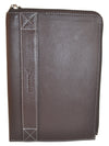 Pratico - zipped  leather iPad mini case #GC02 Brown