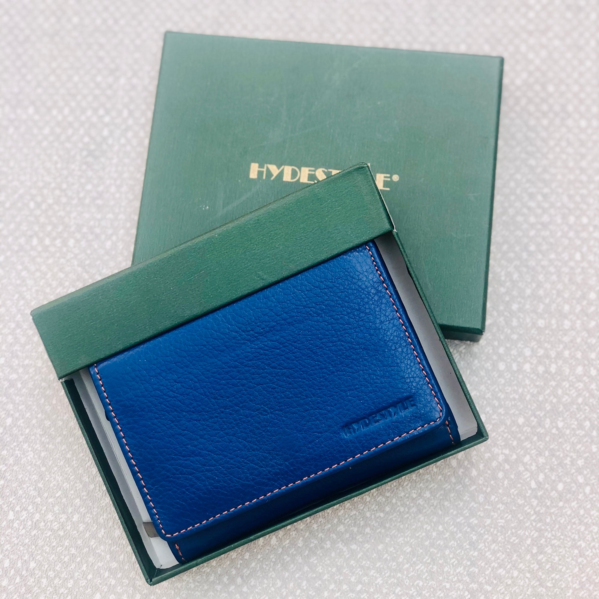 Tilly Leather Ladies Wallet With Key Ring - Blue