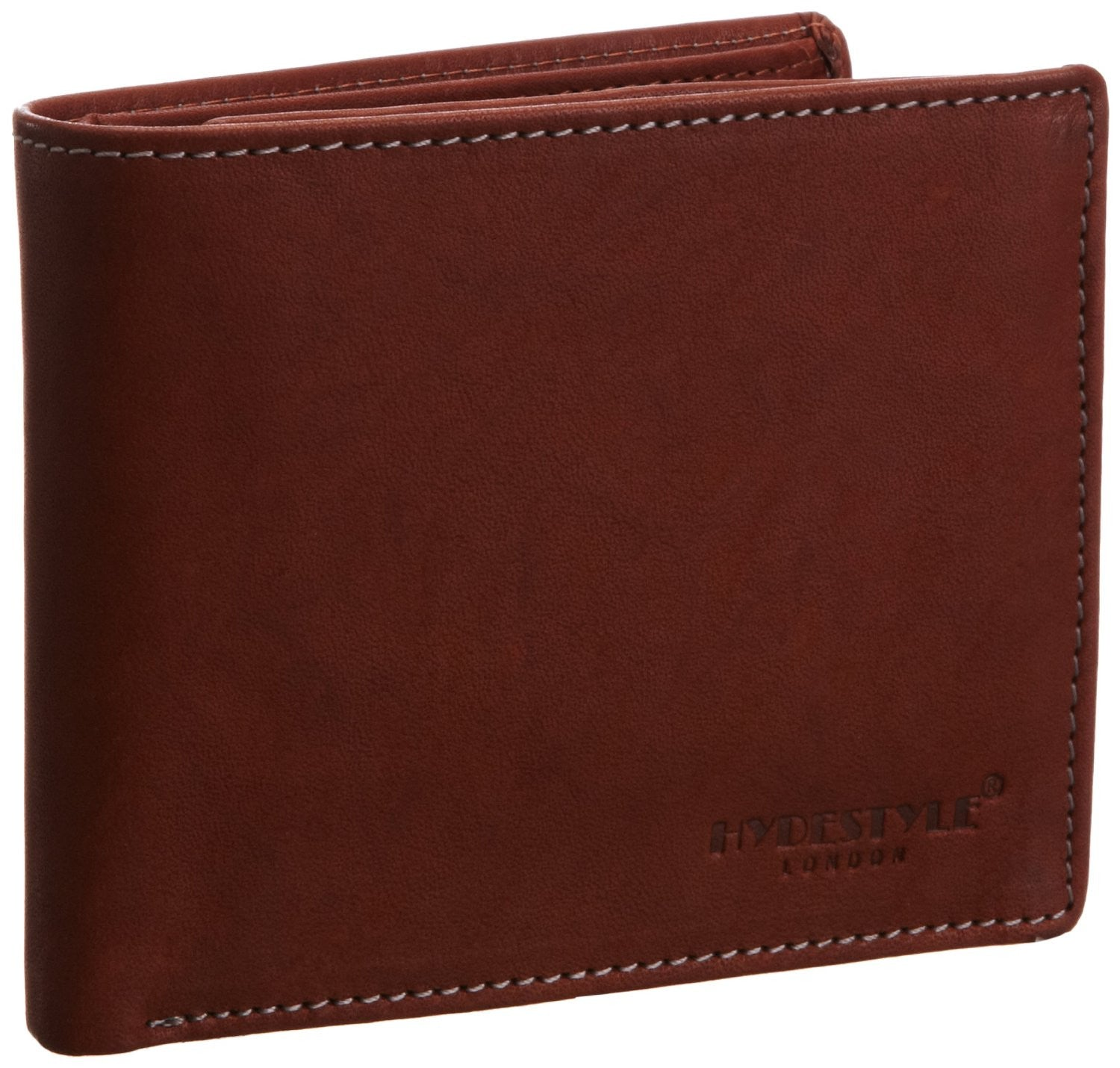 Pratico - mens 17 card leather trifold wallet #GW50 Cognac