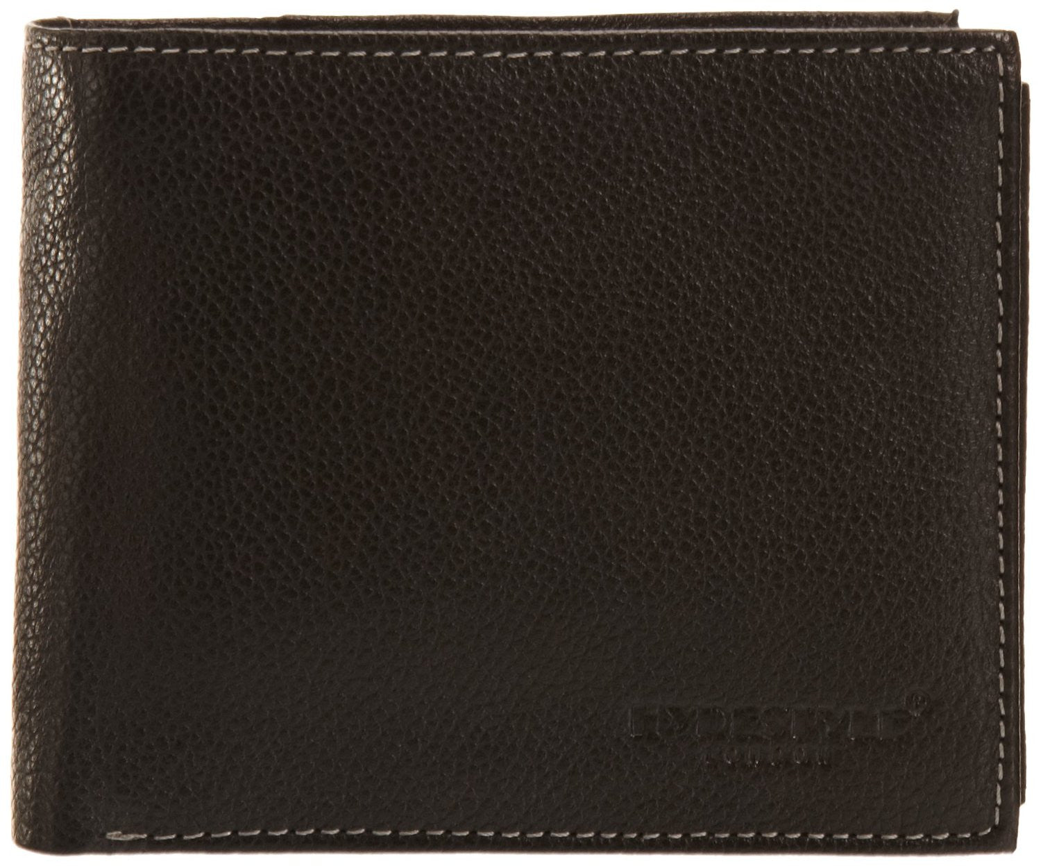 Pratico - mens ID pullout leather trifold wallet #GW51 Black