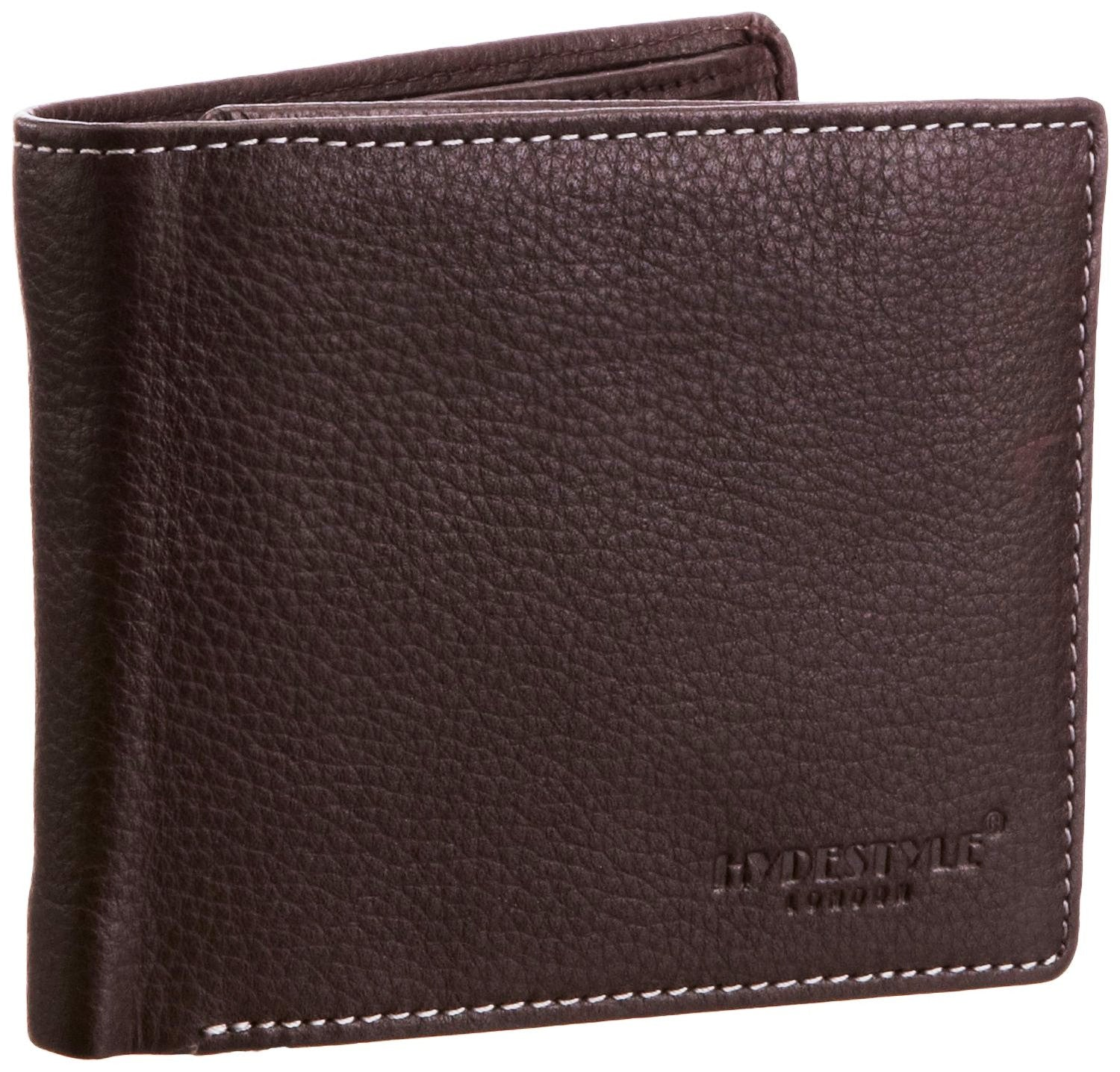Pratico - mens ID pullout leather trifold wallet #GW51 Brown