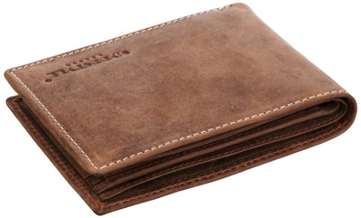 Venator distressed leather trifold coin wallet #GW55