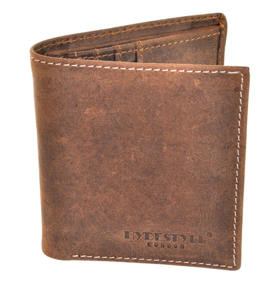 HYDESTYLE Venator distressed leather slim wallet #GW57