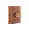 HYDESTYLE Genuine Leather Credit Card Holder Wallet For 34 cards with Plastic Sleeves #GW701