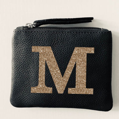 Alphabet Personalised Leather Coin Purse LBR101-Letter-1