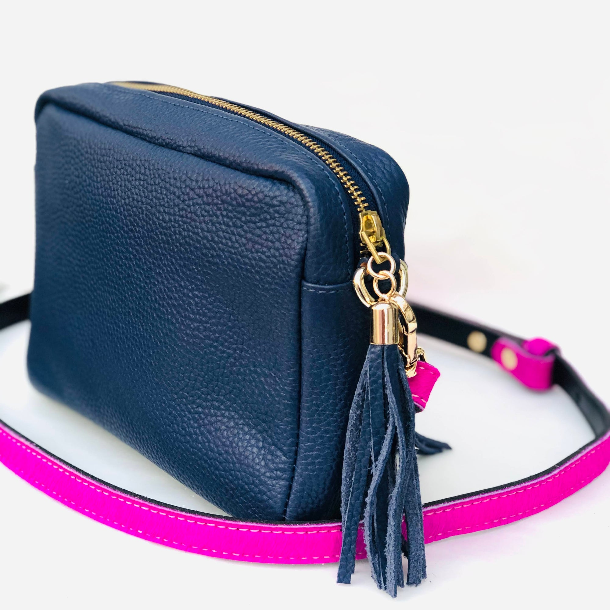 Neon Pink Statement Skinny Replacment Shoulder Bag Strap