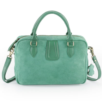 Rimor  Silky suede ladies handbag #LB10 Green