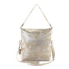 Metallic Rimor 4 way back pack messenger clutch bag #LB31 Beige