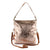 Metallic Rimor 4 way back pack messenger clutch bag #LB31 rose-gold