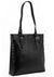 SECURE RFID Waffel Ladies Zip Top Tote Bag LB68 BLACK