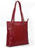 SECURE RFID Waffel Ladies Zip Top Tote Bag LB68 RED