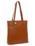 SECURE RFID Waffel Ladies Zip Top Tote Bag LB68 RUST