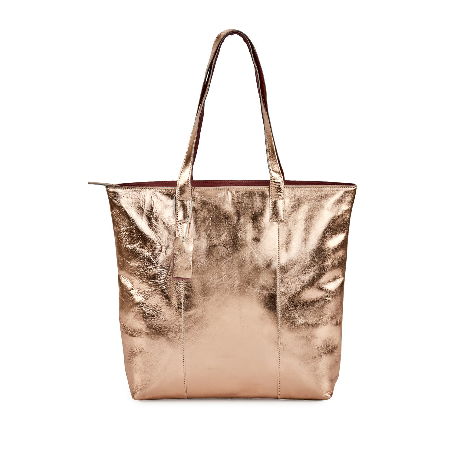 Metallic Magpie Zip Top Tote Bag #LB86 Rose
