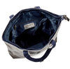 Metallic Magpie Zip Top Tote Bag #LB86 Pewter