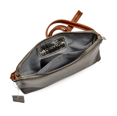 HYDESTYLE Metallic Magpie NEL Clutch Bag #LB87 Pewter