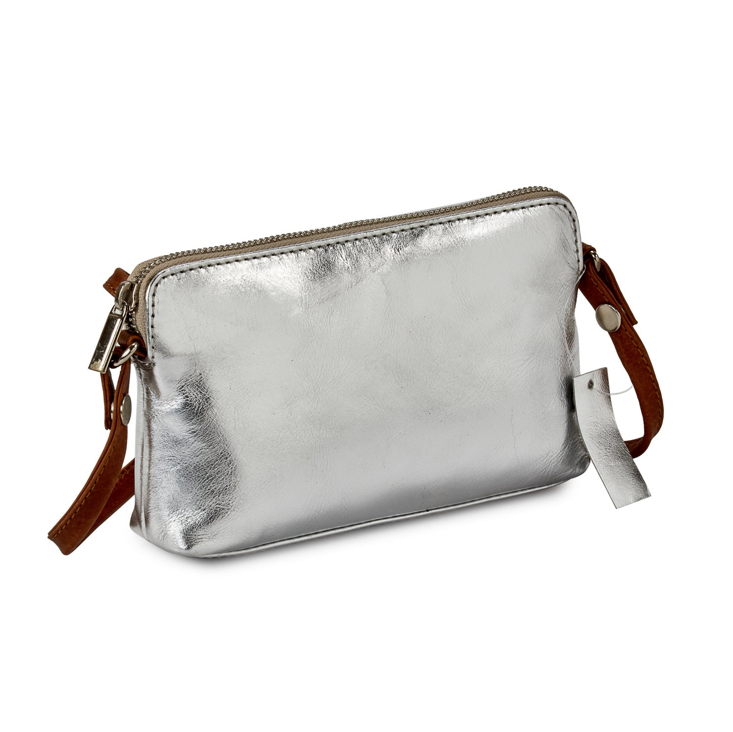 HYDESTYLE Metallic Magpie NEL Clutch Bag #LB87 Silver