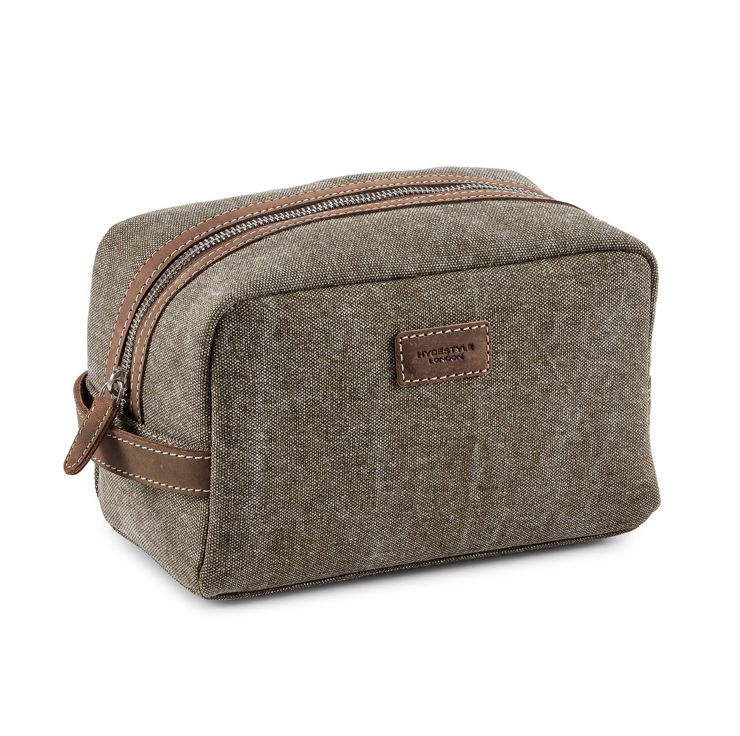 Travel Wash Bag/Toiletry Bag Canvas and Leather Wash Bag #MB2021