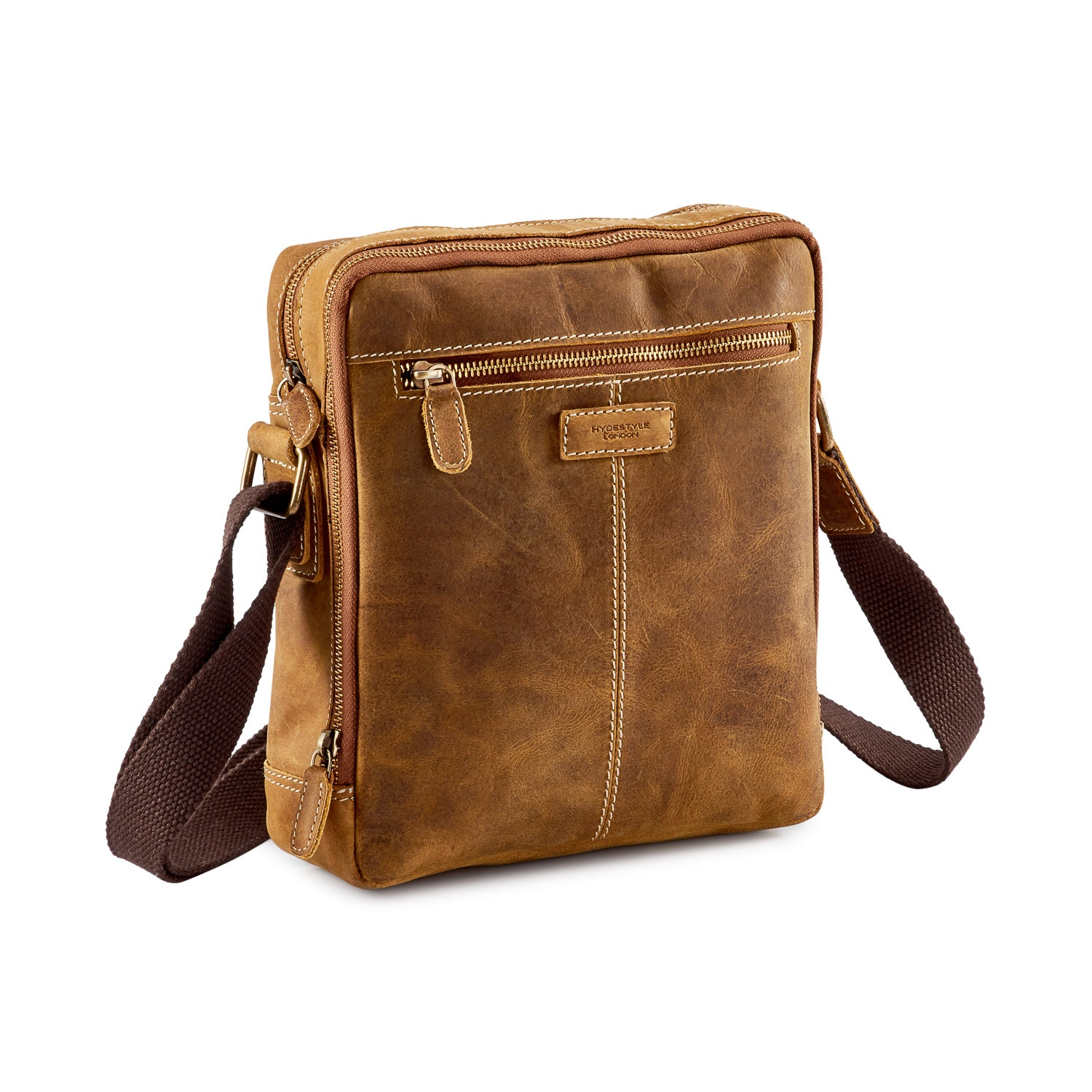 701a4e26a9 Venator Distressed Leather Portrait Messenger Bag  MB4973