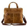 Distressed Leather Hunter Laptop Bag #MB4974