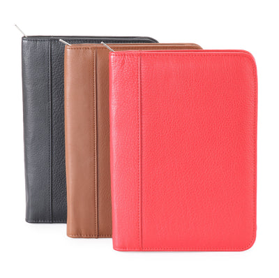 Pratico - leather A5 zip around Organizer #OS01 Red
