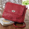 Embossed Red Paisley Large LB102