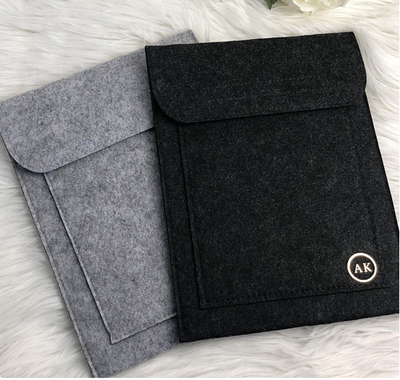 Peronalised Felt iPad | Tablet | Document Slip