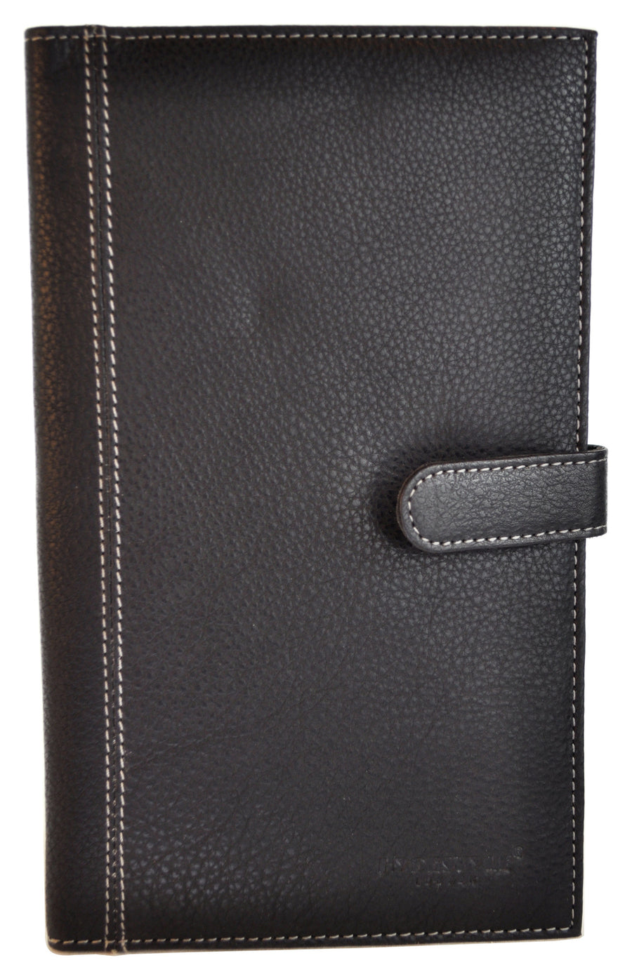 Pratico - leather travel wallet with Tab #TW01 Black