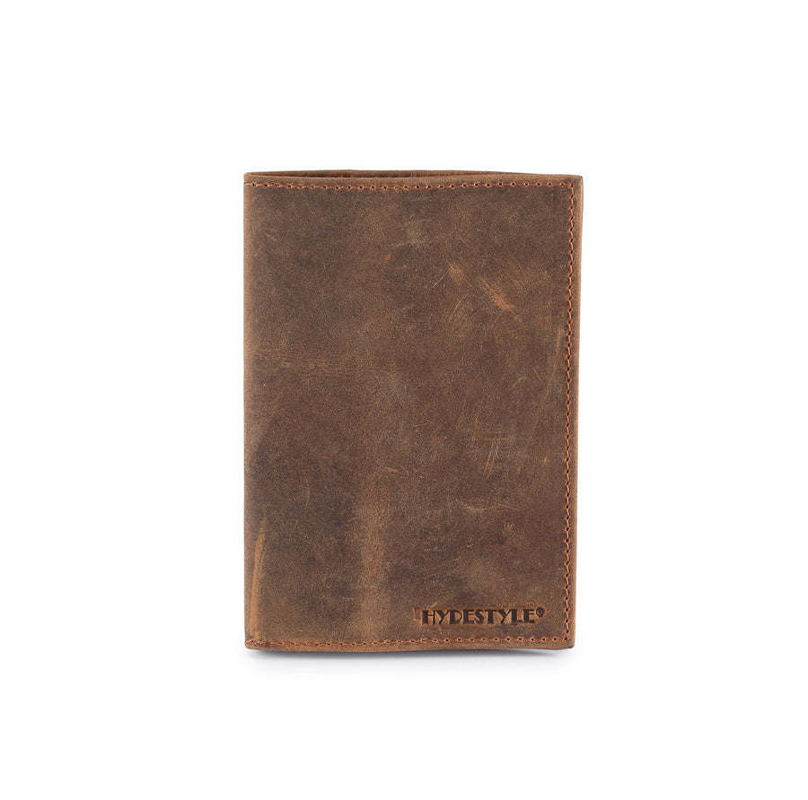 Distressed leather passport cover with card slots #TW11