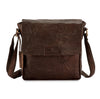 Pello Brown washed leather man-bag #UM101 - Small
