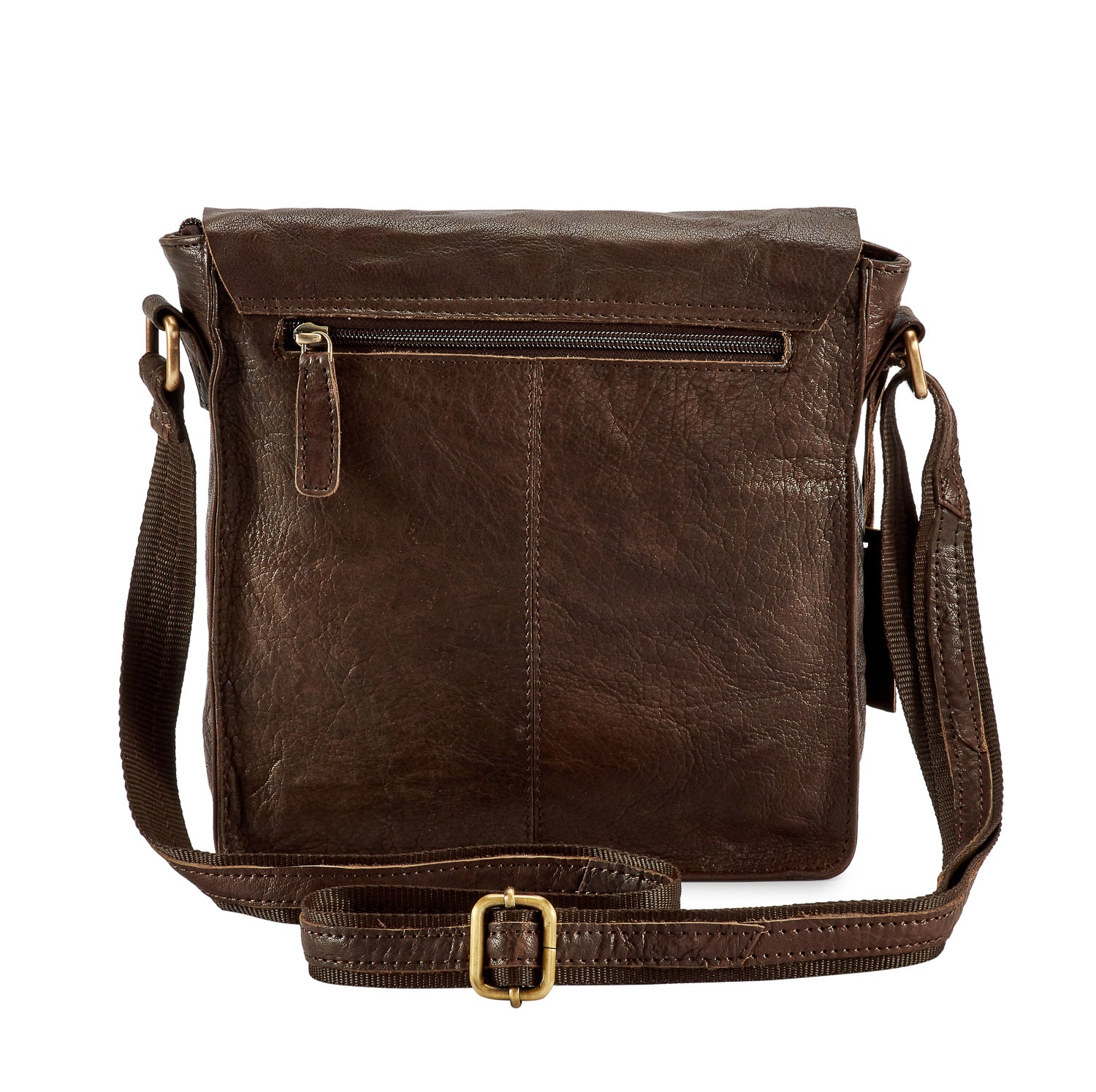 0325de5111ee Pello Brown washed leather man-bag  UM101 - Small