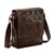 Pello Brown washed leather man-bag #UM102 - Medium