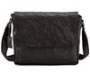 Pello Black washed leather man-bag  #UM103 - Large