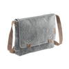Crackle genuine leather a4 satchel messenger bag #UM44 black