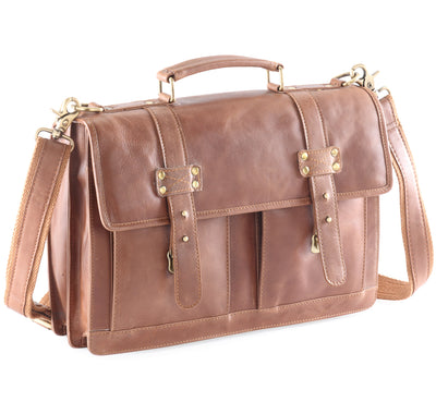 Frango distressed leather satchel / briefcase #UM51