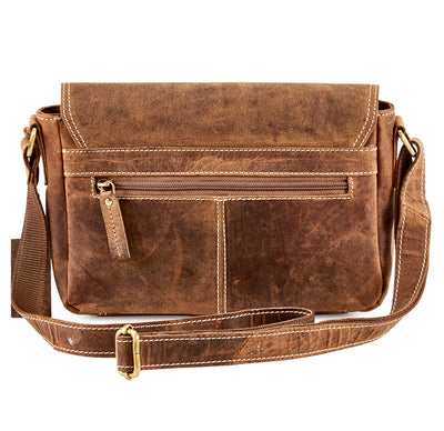 Distressed Leather Saddle Bag #UM62