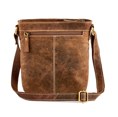 Distressed Leather Travel Cross-Body Bag - iPad/tablet A5 #UM63