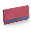 Pratico - women colour block leather wallet #LW08